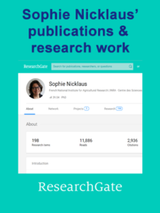 DIPA Sophie Nicklaus Researchgate page