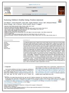 Nurturing Children's healthy eating: position paper